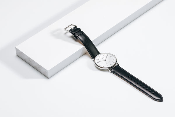 Black and Silver Barrow watch