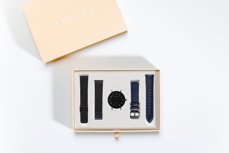 Modello, Coal Watch | Navy Leather + Mesh
