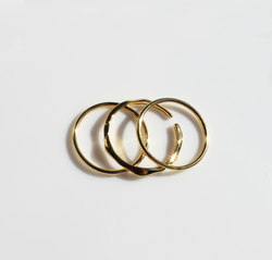 Sienna Stacker Ring Collection | 18K Gold