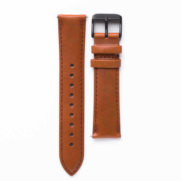Tan - Vegetable Tanned Leather Watch Band