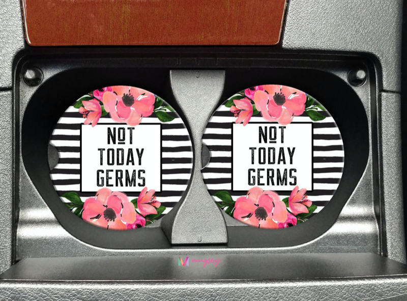 Not Today Germs Car Coasters
