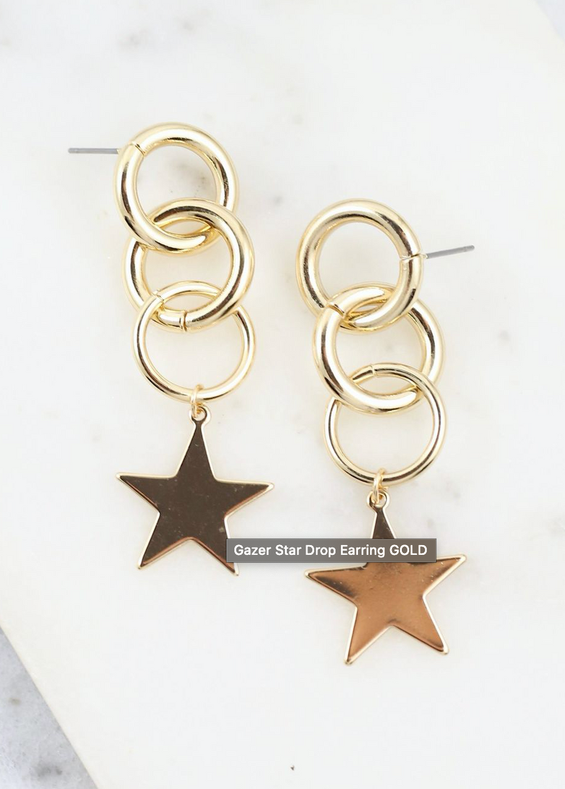 In Her Power Gold Star Earrings