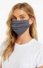 Z Supply Tie Dye Face Covering Dusty Navy