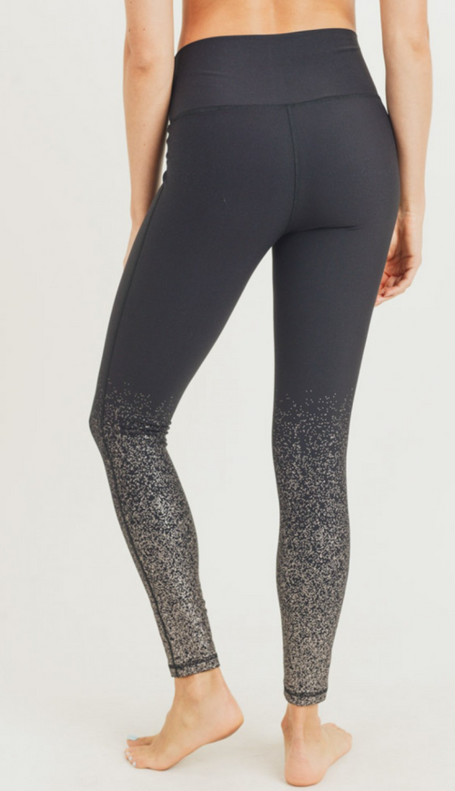 Metallic Raindrop Leggings