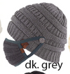 CC Beanie Hat w/Buttons for Mask