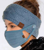 CC Button Headband For Mask Wear