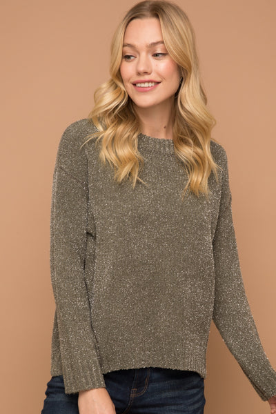Shimmering Sweater Top