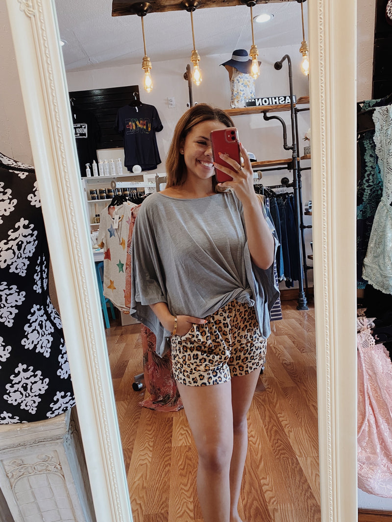 Glam Leopard Shorts