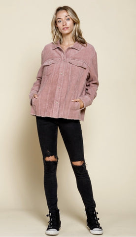 Corduroy Shirt Look Jacket