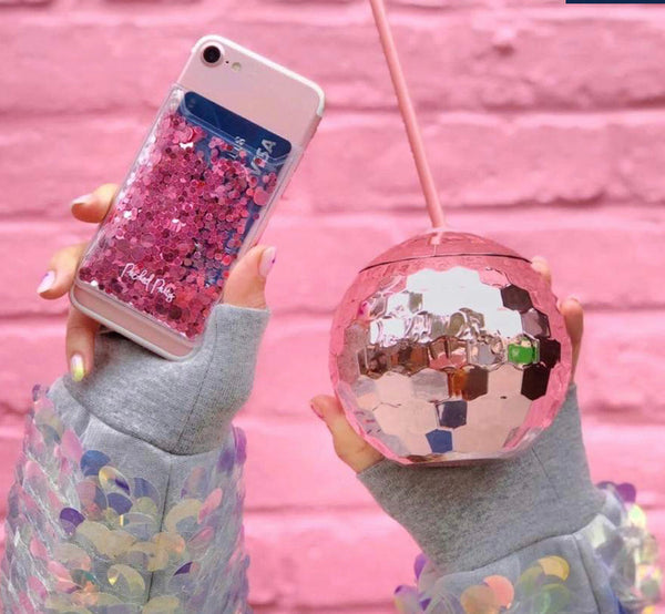 Rose Gold Disco Drink Cup