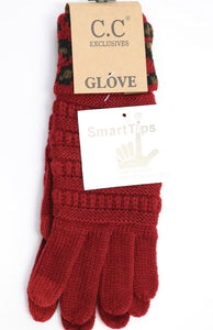 Cable Knit Cuff Gloves