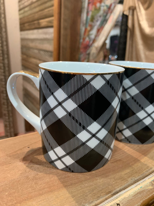 Buffalo Plaid Mugs