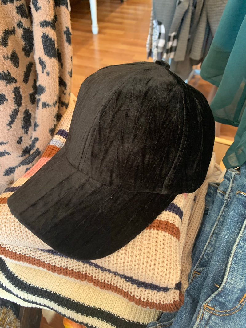 Crazy About Velvet Ball Cap