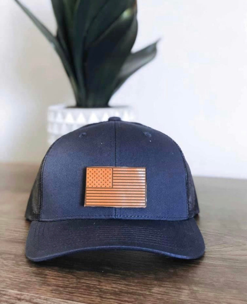 Trucker Hat w/Leather Patch