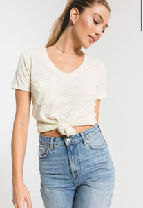 Airy Slub Pocket Tee