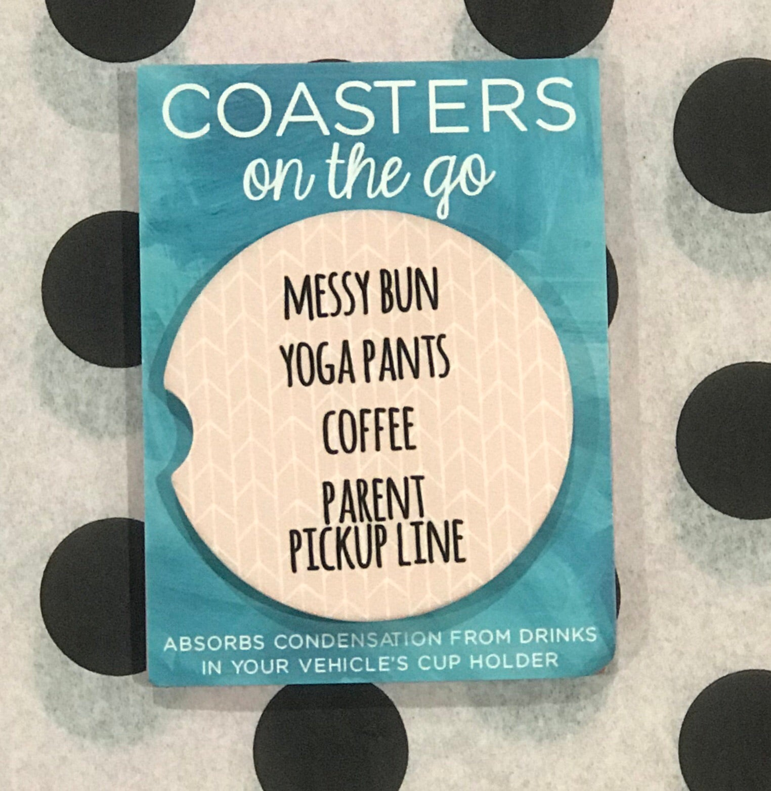 Messy Bun Car Coasters