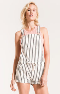 PIN STRIPE SHORT OVERALLS