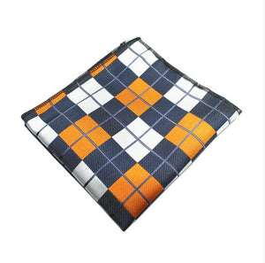 Plaid and Floral Pattern Pocket Squares