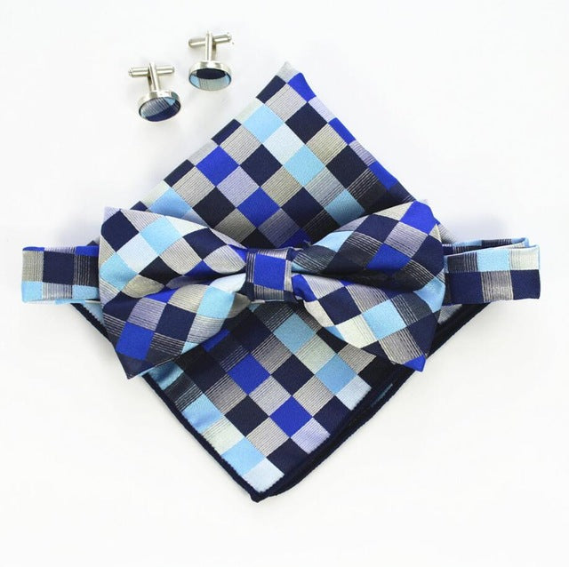 Vintage Bowtie Set with Various Patterns