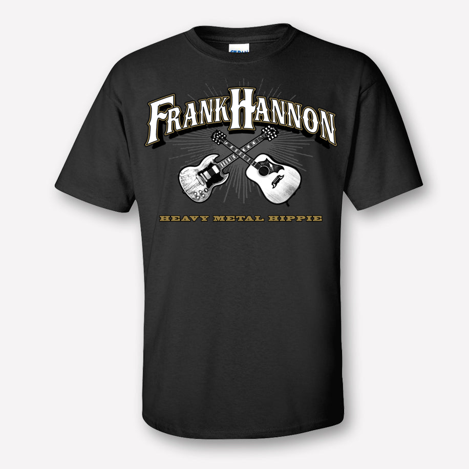 FRANK HANNON CROSSED GUITARS TEE | Heavy Metal Hippie