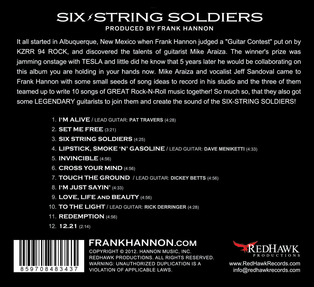 SIX-STRING SOLDIERS (CD)