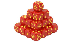 Team Yankee Red Thunder Soviet Dice Set