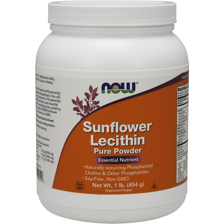 Sunflower Lecithin, Pure powder - 454g