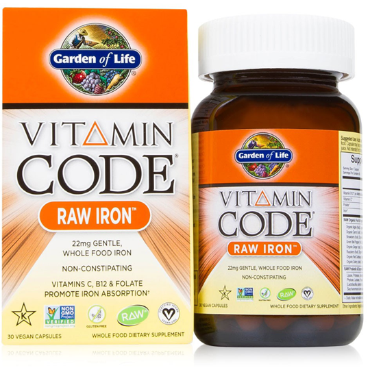 Vitamin Code, Raw Iron - 30 UltraZorbe Vegan capsules