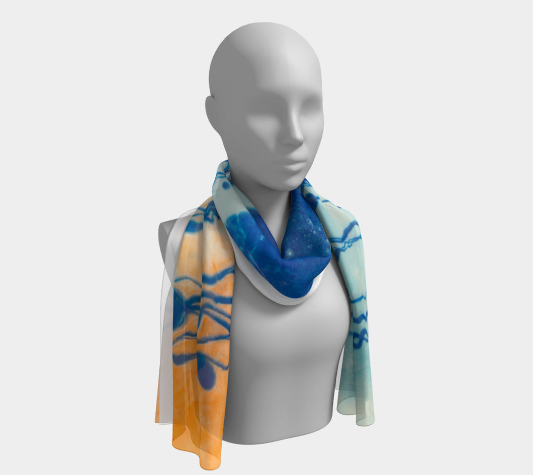 Surfing Blues Long Scarf