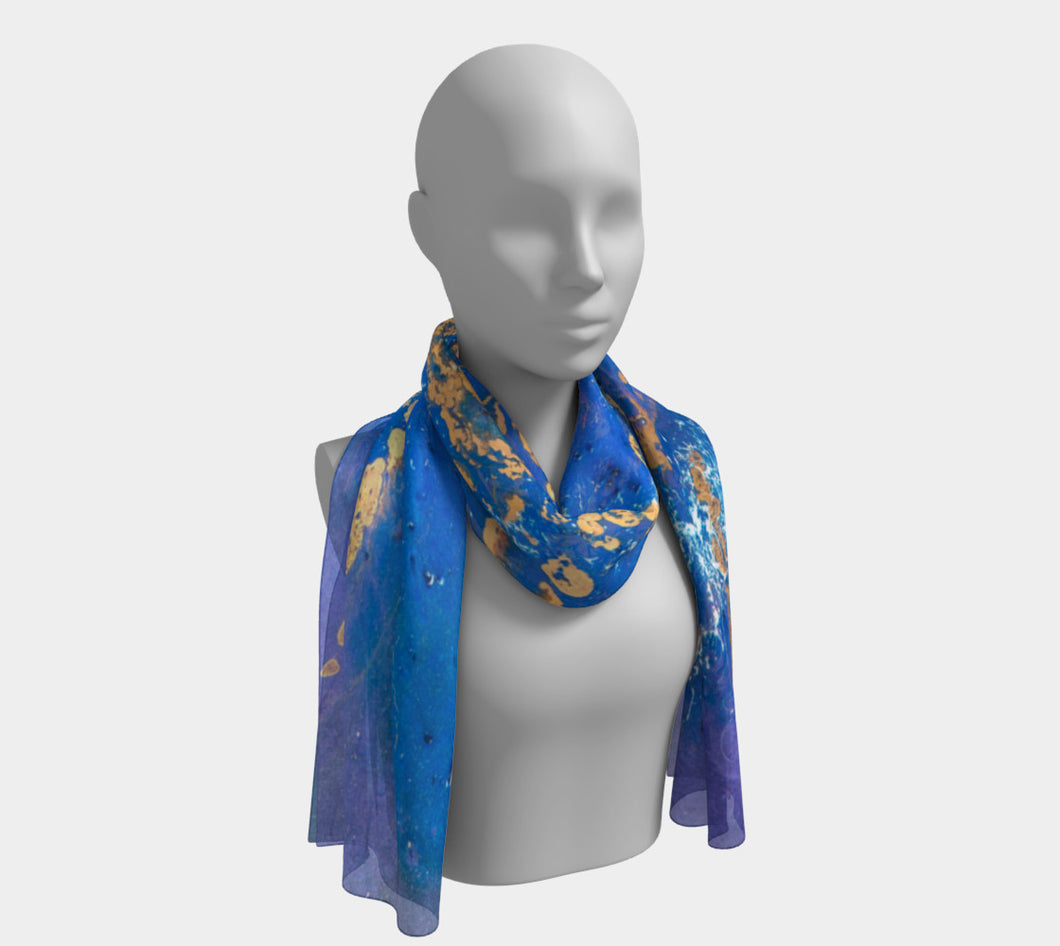 Gold Streak Long Scarf