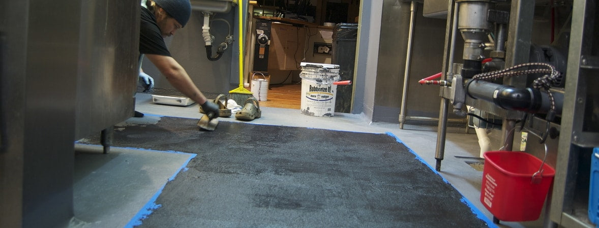 Dura-Rubber coating for rubber floor  applications