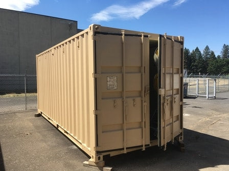 Shipping container waterproof coating