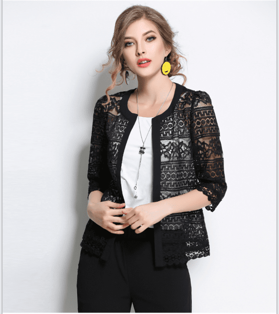 Women S Laced Cardigan The Trend Square