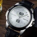 Quartz Watch For Men With Leather Watch Band | The Trend Square