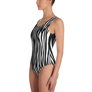 Zebra All-Over Print One-Piece Swimsuit