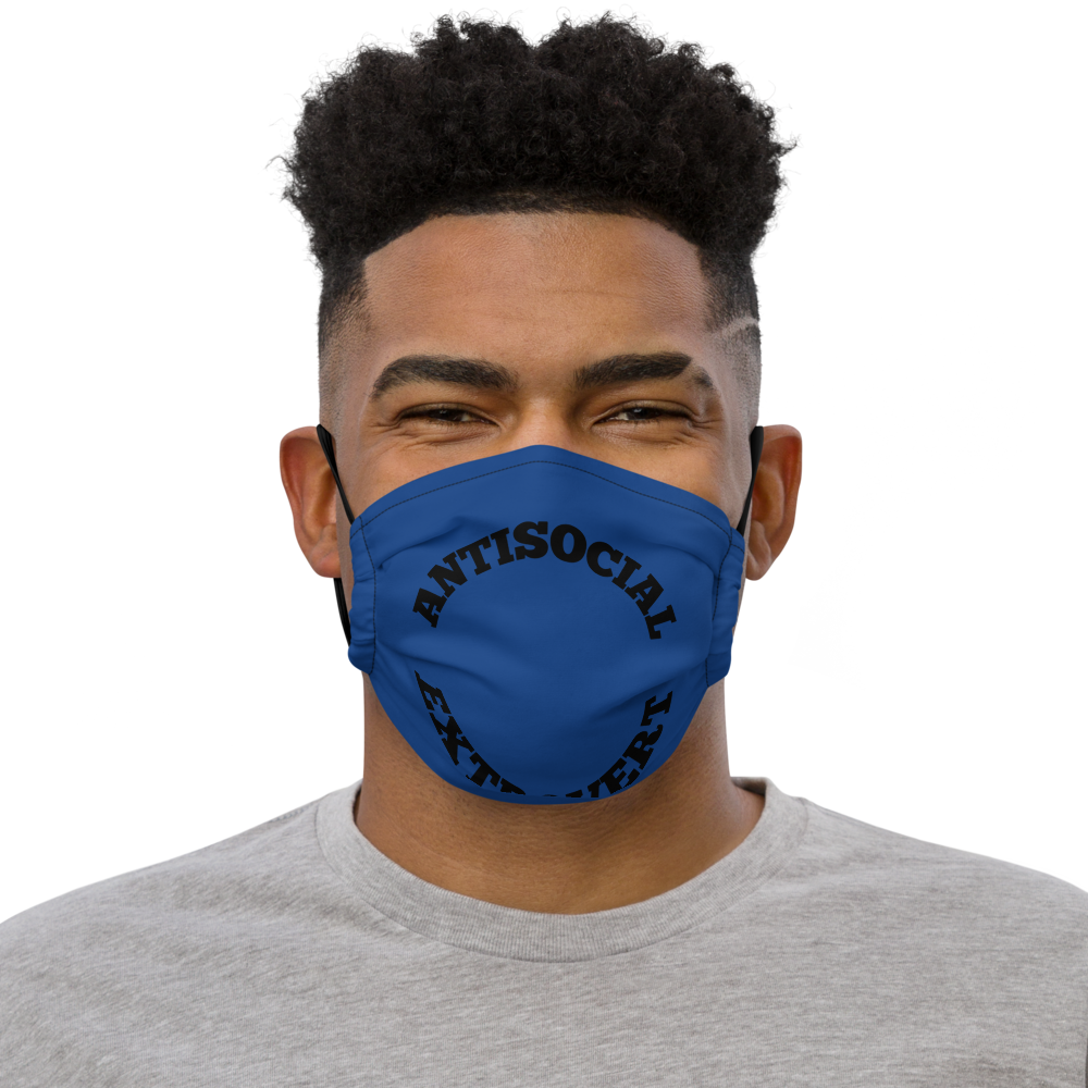 Anti Social Extrovert Blue Premium face mask