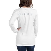 G.O.A.T. Front & Back Unisex Long Sleeve Tee