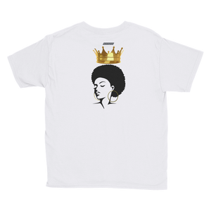 Beautiful Black Queen Youth Short Sleeve T-Shirt