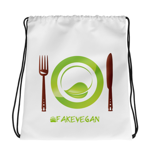 Fake Vegan Drawstring bag
