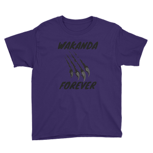 Wakanda Forever Youth Short Sleeve T-Shirt