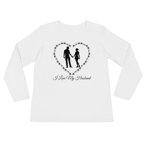 I Love My Husband Ladies' Long Sleeve T-Shirt
