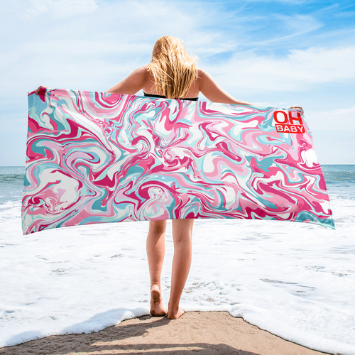 Pink Swirl Beach Towel