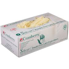 Cranberry SilkCare™ Powder-Free Latex Exam Gloves with Lanolin & Vitamin E