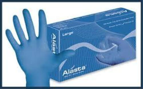 Alasta Powder-Free Nitrile Exam Powder Gloves