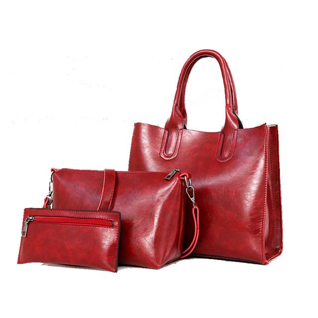 leather handbag tote shoulder handbag
