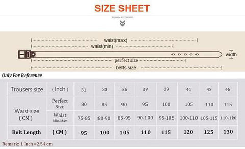 mens belt size chart haus of leather