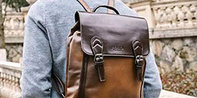 mens leather backpacks