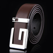 Casual Men's Genuine Leather Belt Featuring Letter Detail - 3 Colours Available - Haus of Leather Online Store