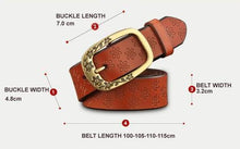 Ornate Genuine Leather Women's Fashion Belt Dimensions