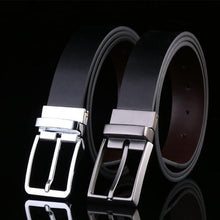 Rectangular Buckle Men's Genuine Leather Belt - 2 Colours Available - Haus of Leather